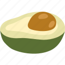 alligator, avocado, choquette, fruit, hass, pear icon