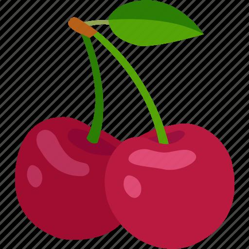 berries, cherries, cherry, fruit, ornamental, sweet, wild icon