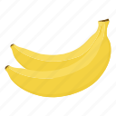 banana, fruit mix, fruits, raw food, vegetarian, vitamins, yellow icon