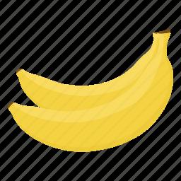 banana, fruit mix, fruits, raw food, vegetarian, vitamins, yellow icon