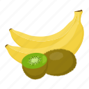 banana, fruit mix, fruits, kiwi, vegetarian, vitamins icon