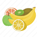apple, banana, fruit, fruit combination, fruit mix, fruits, kiwi icon