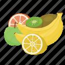 apple, banana, fruit, fruit combination, fruit mix, fruits, kiwi icon