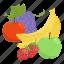 apple, banana, fruit, fruit combination, fruit mix, fruits, grapes icon
