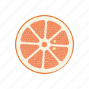 circle, fruits, grapefruit, grapefruit circle, raw food, vegetarian, vitamins icon