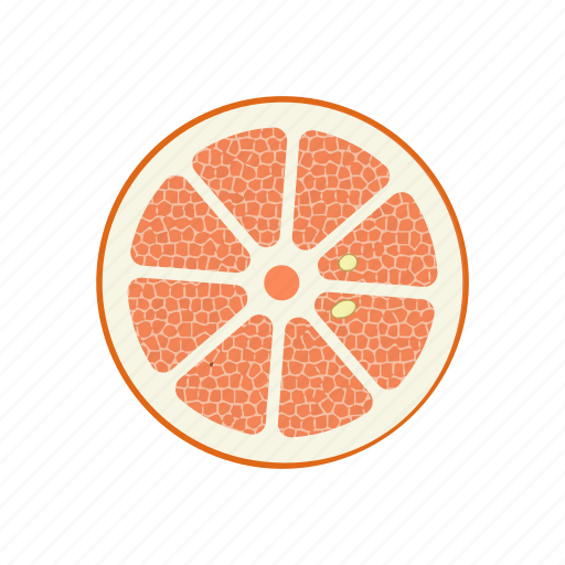 circle, fruits, grapefruit, grapefruit circle, raw food, vegetarian, vitamins icon