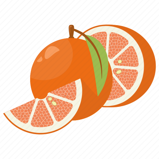 fruit combination, fruit mix, fruits, grapefruit, grapefruit half icon