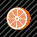 circle, fruit mix, fruits, grapefruit, half, vegetarian, vitamins