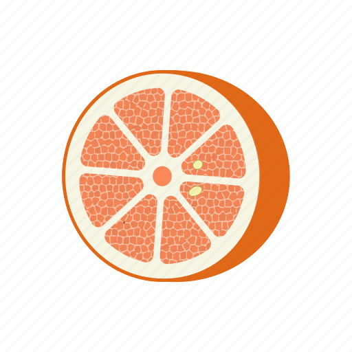 circle, fruit mix, fruits, grapefruit, half, vegetarian, vitamins icon