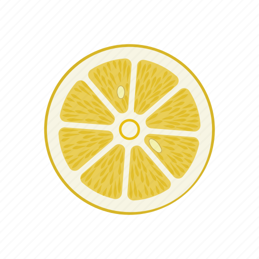 circle, citrus, lemon, lemon circle, raw food, vegetarian, vitamins icon