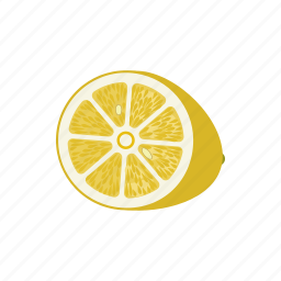 citrus, fruit mix, fruits, lemon, lemon circle, lemon half, yellow icon