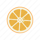 circle, citrus, fruits, orange, orange circle, round, yellow icon