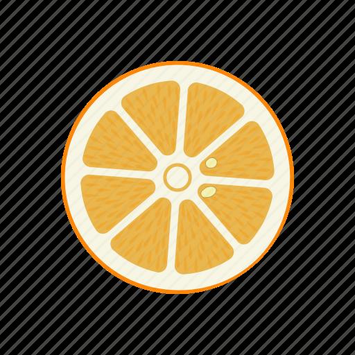 circle, citrus, fruits, orange, orange circle, round, yellow icon