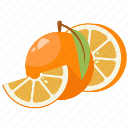 citrus, fruit mix, fruits, lime, orange, vitamins, yellow icon