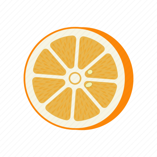 citrus, fruit mix, half, orange, vitamins, yellow icon