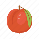 fruit mix, fruits, peach, raw food, vegetarian, vitamins icon