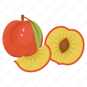 fruit, peach, peach combination, peach mix, tropical, vitamin, yellow icon