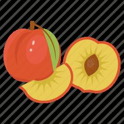 fruit, peach, peach combination, peach mix, tropical, vitamin, yellow icon