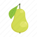 fruit, organic, pear, raw food, summer, vegetarian, vitamins icon