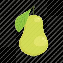 fruit, organic, pear, raw food, summer, vegetarian, vitamins icon