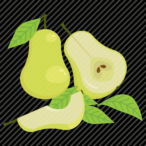 fruit, fruit mix, pear, vegetarian, vitamins icon
