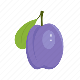 fruit mix, fruits, nature, plum, purple, summer, sun icon