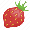 dessert, fruit, fruits, red, strawberry, vegetarian, vitamins icon