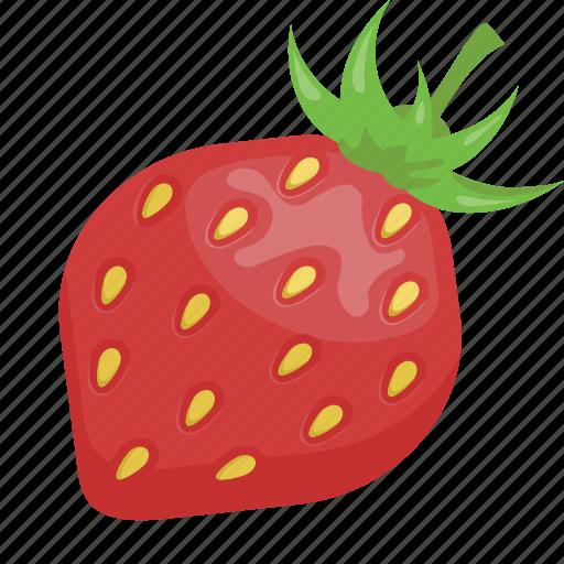 dessert, fruit, fruits, red, strawberry, vegetarian, vitamins icon