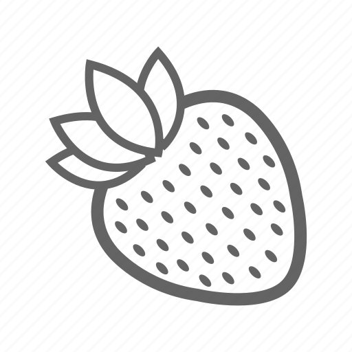 food, fruit, healthy, natural, strawberry, vitamin icon