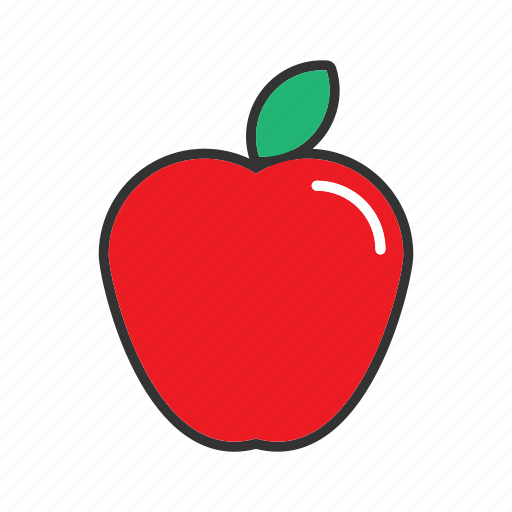 apple, collection, food, fresh, fruit, fruits, health icon