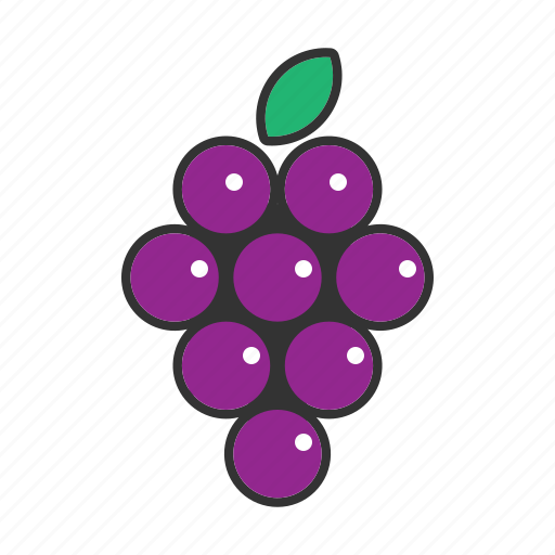collection, food, fresh, fruit, fruits, grape, healthy icon