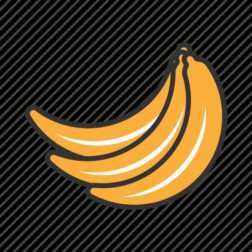 banana, collection, food, fresh, fruit, fruits, health icon