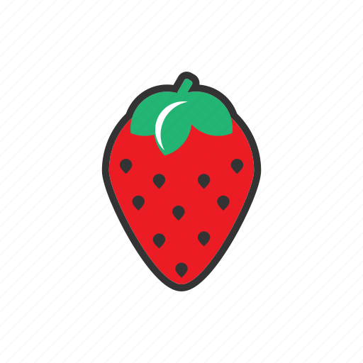 collection, food, fresh, fruit, fruits, healthy, strawberry icon