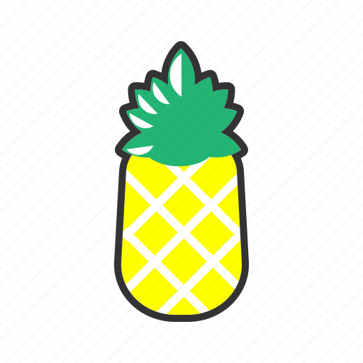 collection, food, fresh, fruit, fruits, health, pineapple icon