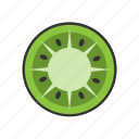 collection, food, fresh, fruit, fruits, healthy, kiwi icon