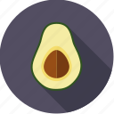 avocado, exotic, food, fresh, fruit, half, tropical icon