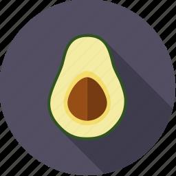 avocado, exotic, food, fresh, fruit, half, tropical icon