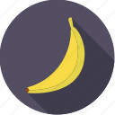 banana, food, fresh, fruit, tropical icon