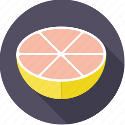 citrus, food, fresh, fruit, grapefruit, half, tropical icon