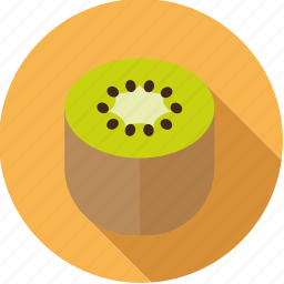 exotic, food, fresh, fruit, half, kiwi, tropical icon
