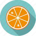 citrus, food, fresh, fruit, orange, slice icon