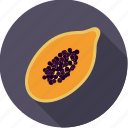 exotic, food, fresh, fruit, half, papaya, tropical icon