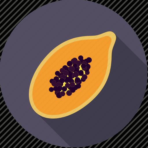 exotic, food, fresh, fruit, half, papaya, tropical icon