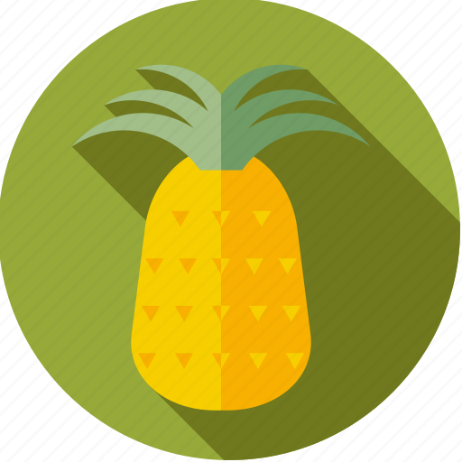 food, fresh, fruit, pineapple, tropical icon