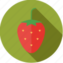 food, fresh, fruit, strawberry icon