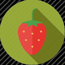 food, fresh, fruit, strawberry icon