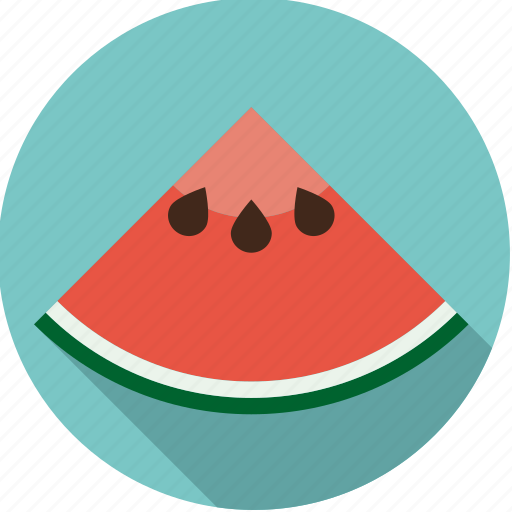 food, fresh, fruit, quarter, slice, tropical, watermelon icon