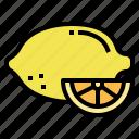 food, fruit, fresh, lemon, lime icon