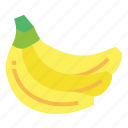 banana, food, fresh, fruit, vegetarian icon
