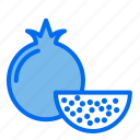 fruit, food, healthy, pomegranate
